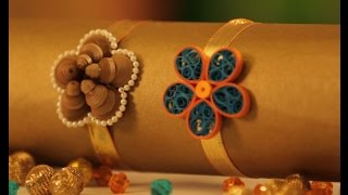 Hobby Ideas : DIY Quilling Craft - Rakhi Making with Quilling