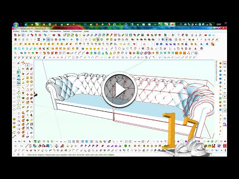 TUTORIAL SketchUp Modeling Advanced - Proyecto 17 Sofa Tapic
