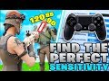 How To Find The PERFECT Controller Fortnite Sensitivity! (Controller Fortnite - PS4 + Xbox)