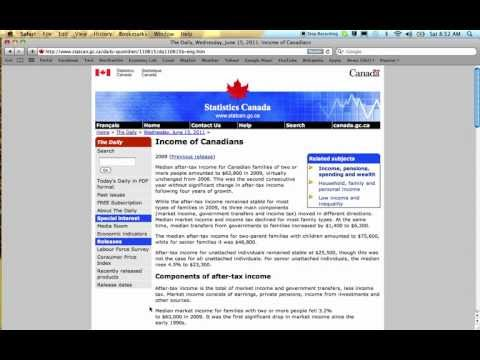 How To Find Economic Data On The Statistics Canada Website