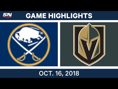 NHL Highlights | Sabres vs. Golden Knights - Oct. 16, 2018