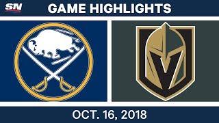 NHL Highlights | Sabres vs. Golden Knights - Oct. 16, 2018