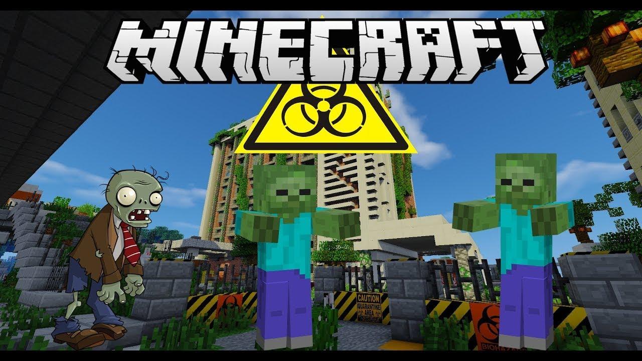 игры майнкрафт выживание в городе зомби #5