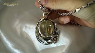 Golden Sophia. Rutilated quartz pendant by Lala Lotos.