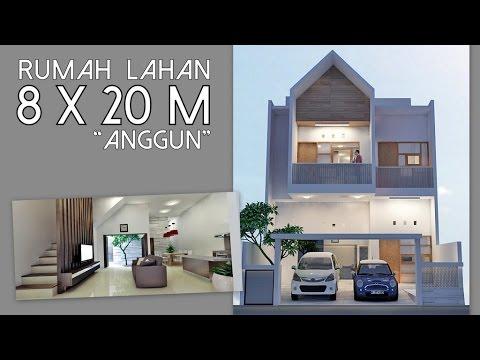 Desain Rumah Anggun Lahan 8x20m Youtube