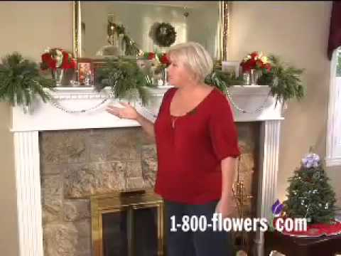 Decorating a Holiday Fireplace Mantel with Julie Mulligan - YouTube - christmas fireplace decor