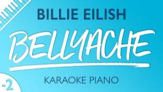 Bellyache (Lower Key - Piano Karaoke Instrumental) Billie Eilish