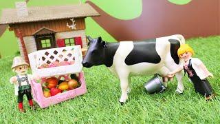 Spielspaß mit LEGO Duplo. Ein Tag auf dem Bauernhof. Spielzeug Video für Kinder