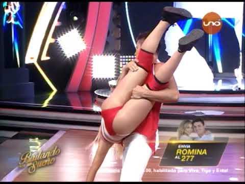 VIDEO: Romina Rocamonje llega a la pista de Bailando por un Sueño Bolivia