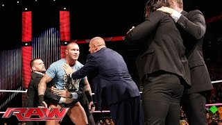 Randy orton defies the authority: raw ...