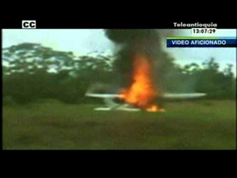 Guerrilleros de las Farc incendian avioneta en aeropuerto de Vigía del Fuerte