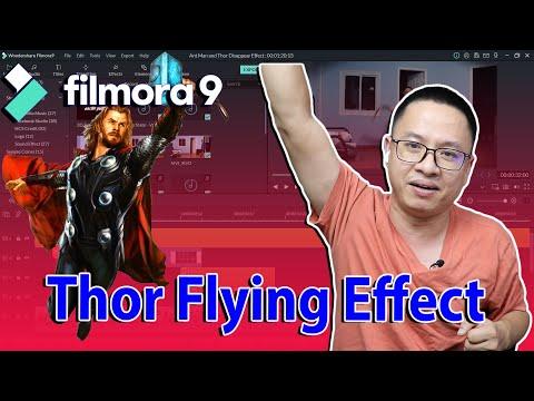 Thor Flying Effect - Filmora9 Tutorial