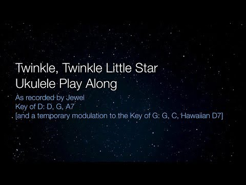 Twinkle Twinkle Little Star Ukulele Play Along in D