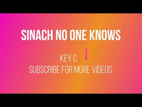 SINACH No One Knows Beginners Piano Chord Tutorial!!