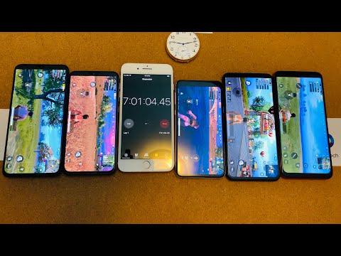 Mi 9 Vs Mi 9 SE Vs Galaxy S10e Vs Vivo IQOO Vs Redmi Note 7 - EPIC Battery Drain Test #3!