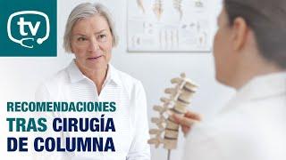 Recomendaciones tras una cirugía de fusión de columna lumbar