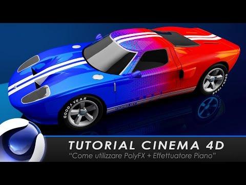"""TUTORIAL CINEMA 4D """"Come utilizzare PolyFX+Effettuatore Piano"""""""