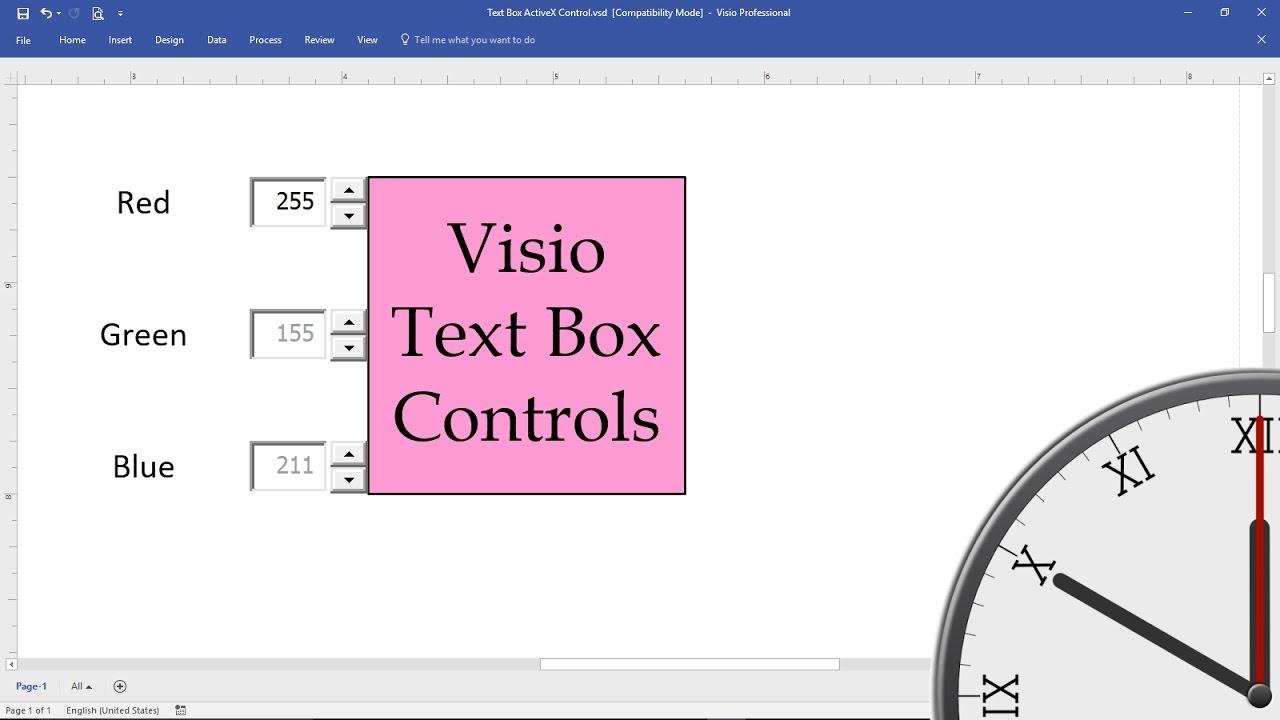 Visio Text Box Controls