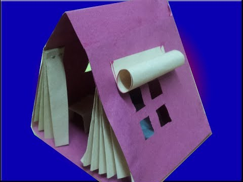 how to make a paper tent house very easy for kids learning