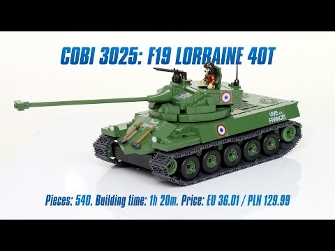 [COBI 3025] F19 Lorraine 40T review & speed build