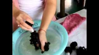 Beautiful Queen weave hair-Co-washing (kinky and curly virgin hair extension)