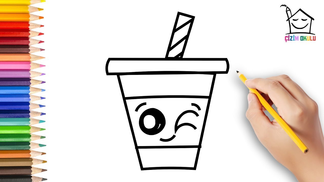 Sevimli İçecek Nasıl Çizilir? - How To Draw a Cute Drink