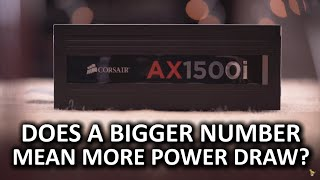 High Wattage PSUs - Do they consume more power?