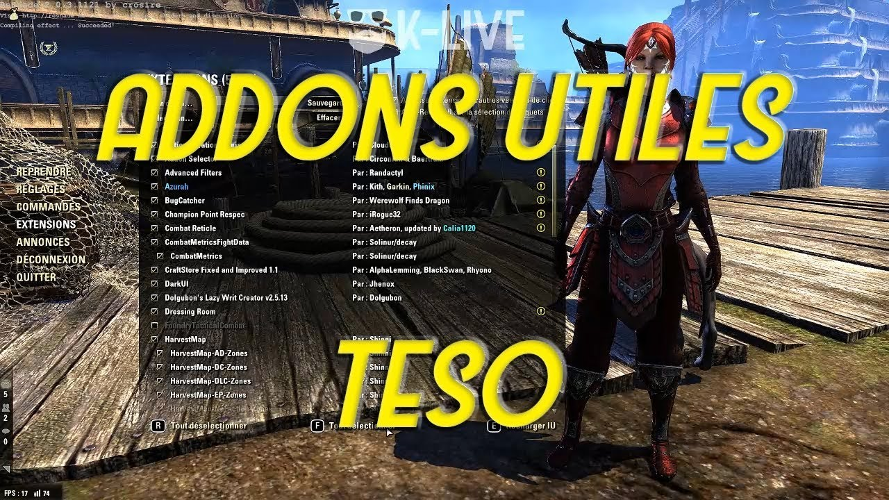 [FR] My TESO Addons 2018