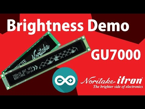 Noritake VFD: GU-7000 Dot Matrix Brightness Demo