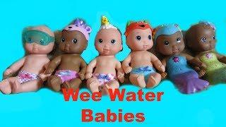 WALMART WEE WATER BABIES unboxing by CUTIE PIE BABIES!  Help us name them!