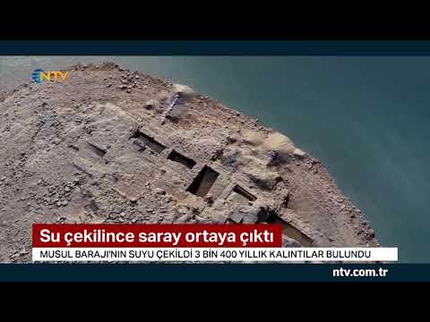 Su çekilince Saray Ortaya çıktı...(3 Bin 400 Yıllık Kalıntılar Bulundu)