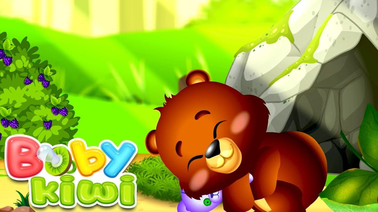 🐻 The Bear is Sleeping - Nursery Rhymes | Baby Kiwi 🥝
