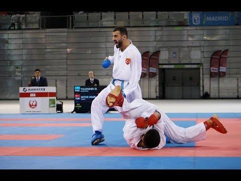 Uğur Aktaş (TUR) - Daniyar Yuldashev (KAZ) - Karate 1 Premier Lig - Madrid 2019