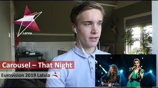 Reaction video Carousel - That Night Latvia Eurovision 2019