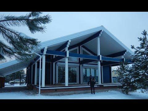 Дом из клееного бруса 200 мм под Казанью в Финском стиле!
