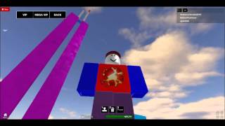 Purple Twin Towers Collapse on Roblox