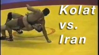 Cary Kolat vs. Iran KOLAT.COM Wrestling Techniques Moves Instruction