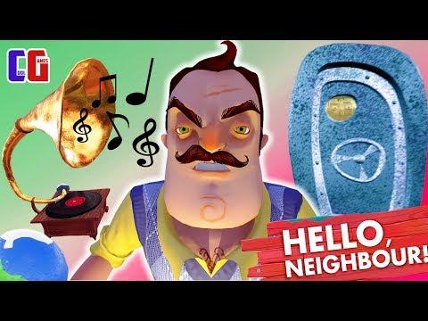 Hello Neighbor НОВЫЕ СЕКРЕТЫ ПРИВЕТ СОСЕД Замороженный глобус гитара и граммофон Прохождение АКТ 3