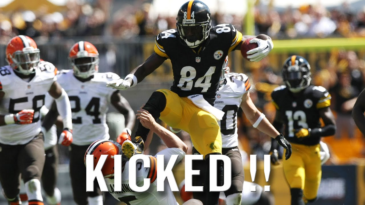 Antonio Brown in trouble again; did pulverizing head shot send him ...