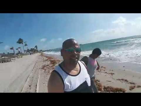 Beach Walking at Dania Beach In South Florida