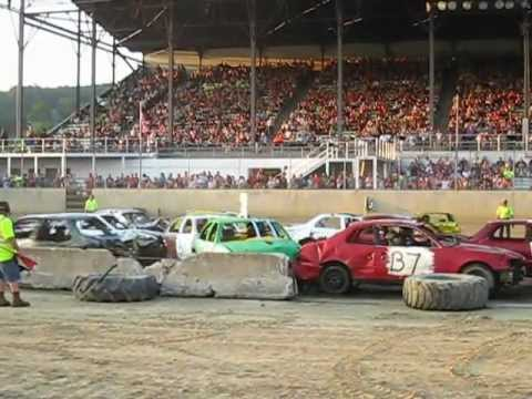 Cattaraugus County Fair Small Car Demolition Derby
