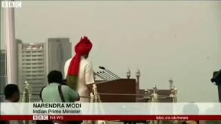 BBC World news on Narendra Modi speech against rape in India.//15-August-2018