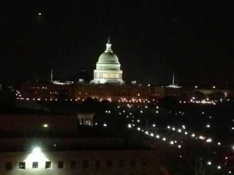 Washington DC at night from rooftop Skyline at night