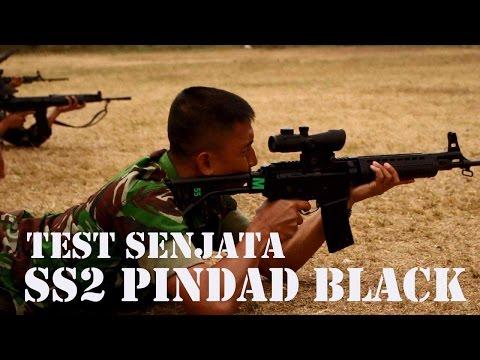 Simulasi Militer   Airsoft Corner   Test Senjata SS 2 (black) Pindad Yonif 301 PKS