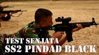 Simulasi Militer | Airsoft Corner | Test Senjata SS 2 (black) Pindad Yonif 301 PKS