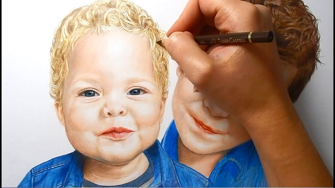 Timelapse | Coloring skin with pan pastel and colored pencils ...