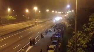 Live Road Bike Racing Accident Video 3 Bikers Dead CCTV Footage Highway