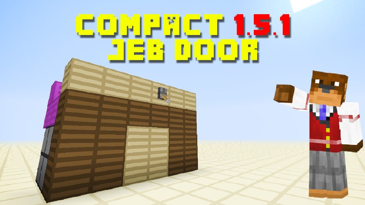 Minecraft 1 5 Tutorial Compact Jeb Door 2x2 Piston Door