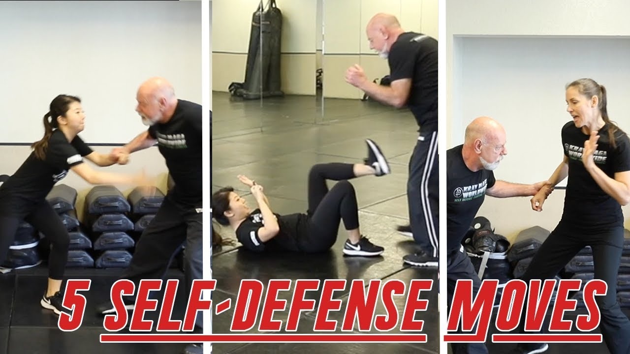 5 SELF DEFENSE MOVES EVERYONE SHOULD KNOW | Krav Maga Women Techniques