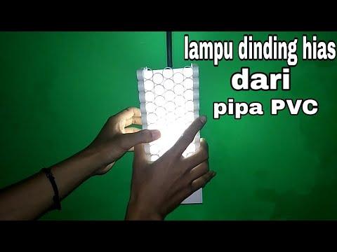 lampu hias dari pipa pvc